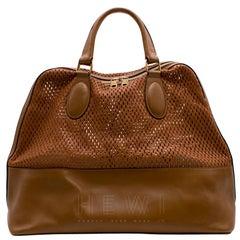 Chloe Laser Cut Leather Tan-Brown Tote Bag SIZE M