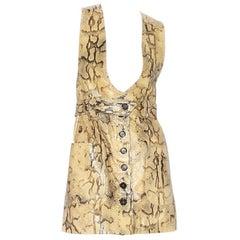 Chloe Leather Snakeskin Print Dress