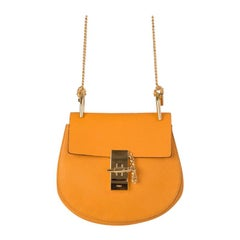 CHLOE mango yellow leather DREW MINI Shoulder Bag