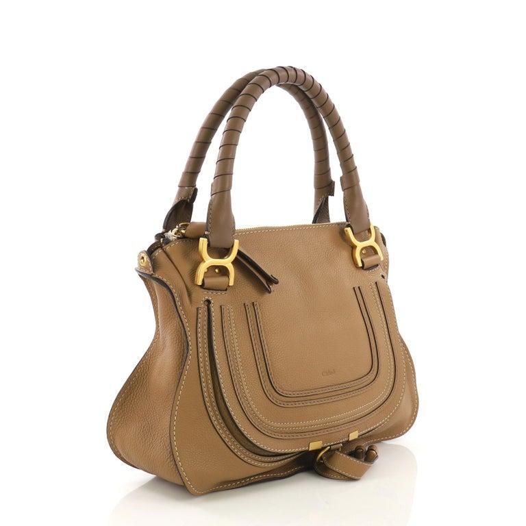 Brown Chloe Marcie Satchel Leather Medium