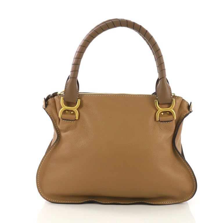 Chloe Marcie Satchel Leather Medium In Excellent Condition In New York, NY