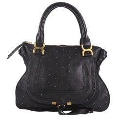 Chloe Marcie Shoulder Bag Studded Leather Medium