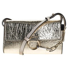 Chloe Metallic Gold Leather Mini Faye Crossbody Bag