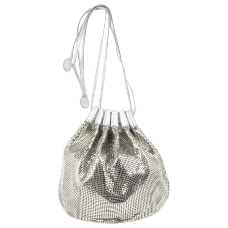 8d7400f842f0 Chloe Metallic Mesh Drawstring Bag For Sale at 1stdibs