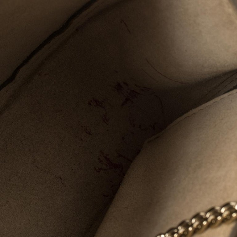 Chloe Metallic Rose Gold Leather Small Drew Shoulder Bag For Sale 2