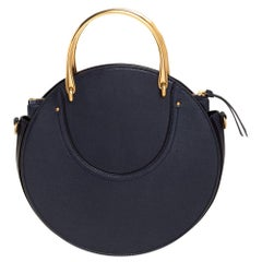 Chloe Midnight Blue Leather and Suede Pixie Shoulder Bag