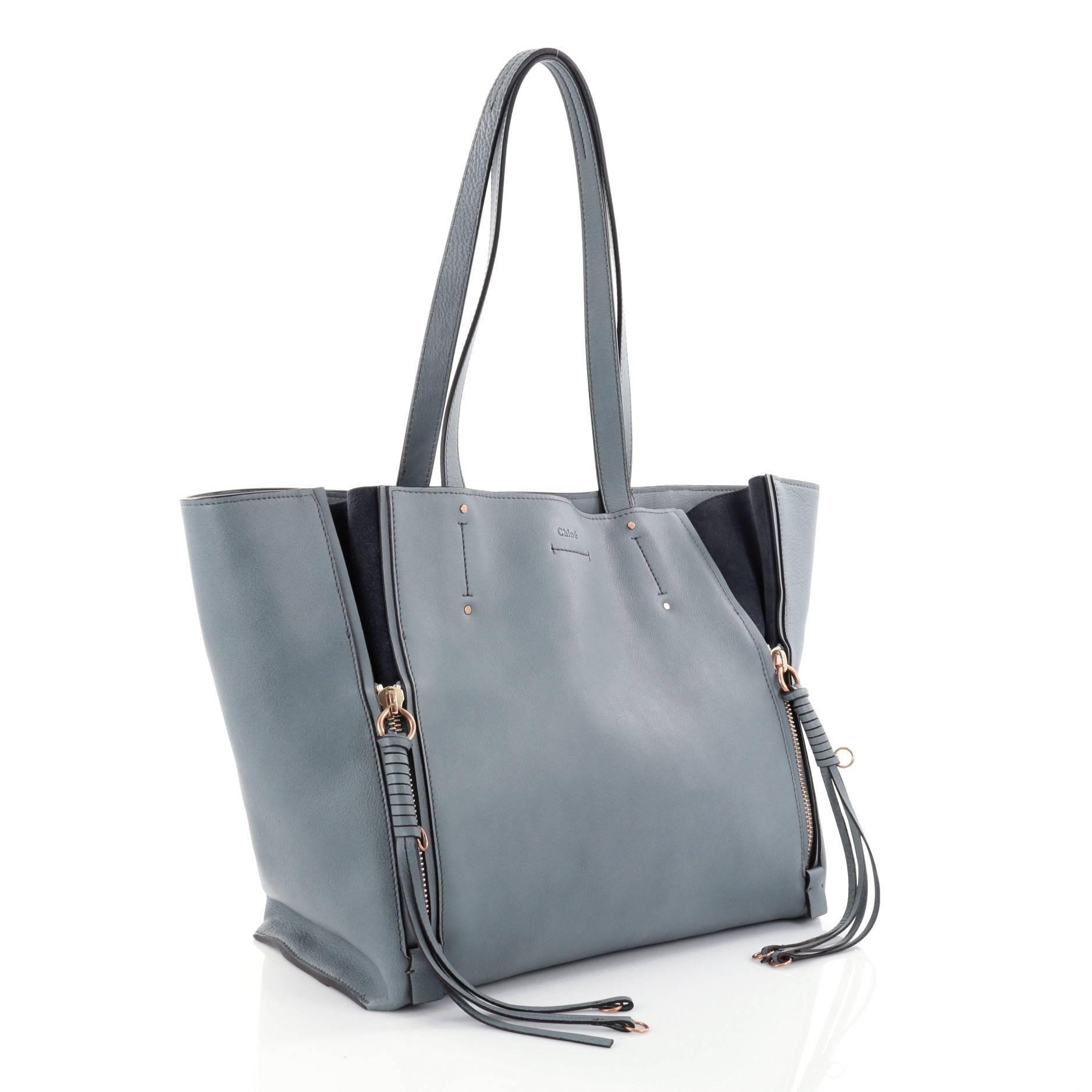 04e14b09e Chloe Milo Shopping Tote Leather Medium at 1stdibs