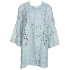 Chloe Mint Green Guipure Lace Oversized Coat S