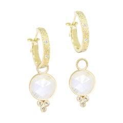 Chloe Moonstone 18 Karat Gold Earrings