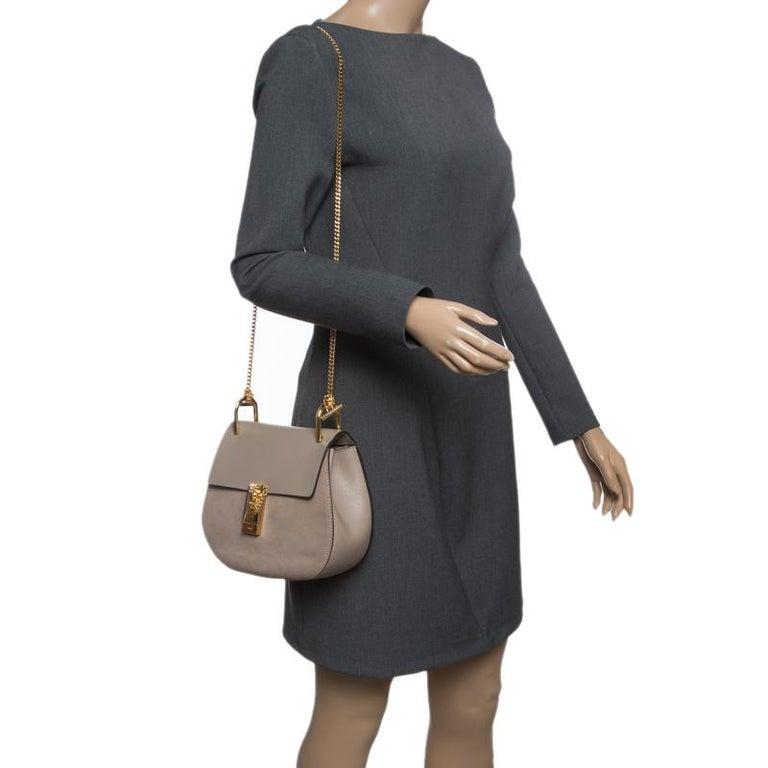 e545151b Chloe Motty Grey Leather Medium Drew Shoulder Bag