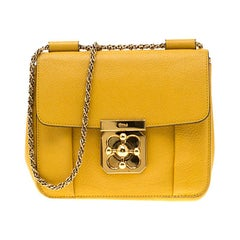 Chloe Mustard Leather Small Elsie Shoulder Bag
