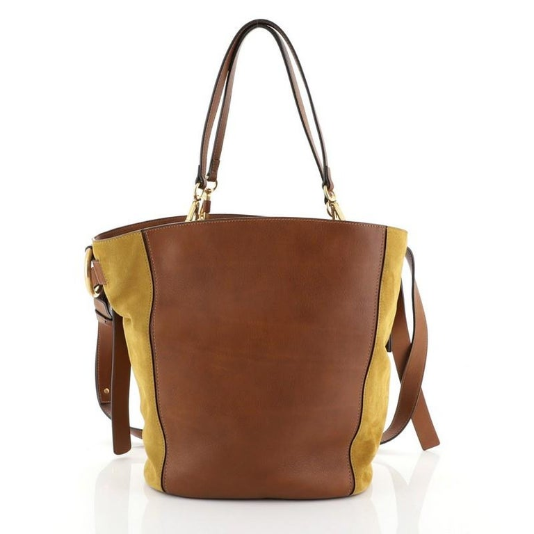 Brown Chloe Myer Tote Leather And Suede Medium  For Sale