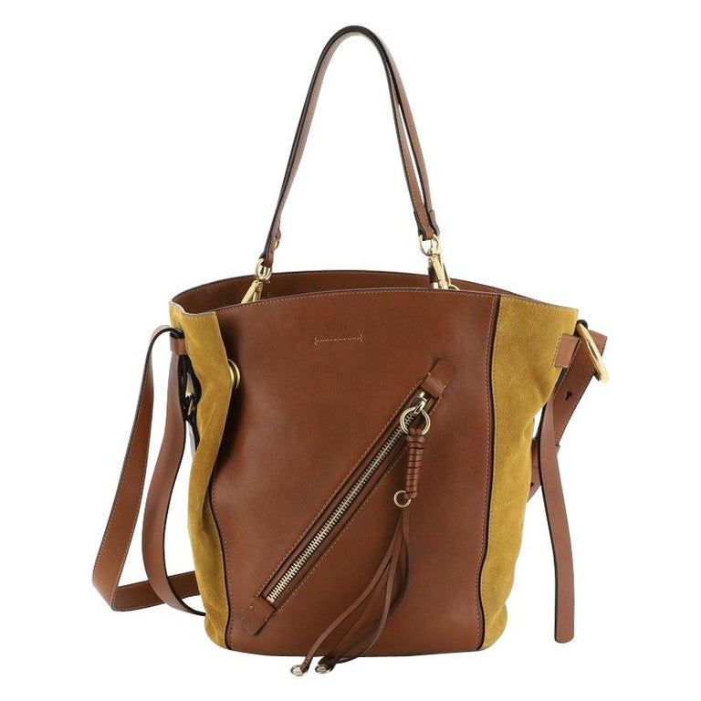 Chloe Myer Tote Leather And Suede Medium  For Sale