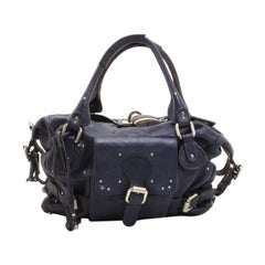 Chloe Navy Blue Large Paddington Tote