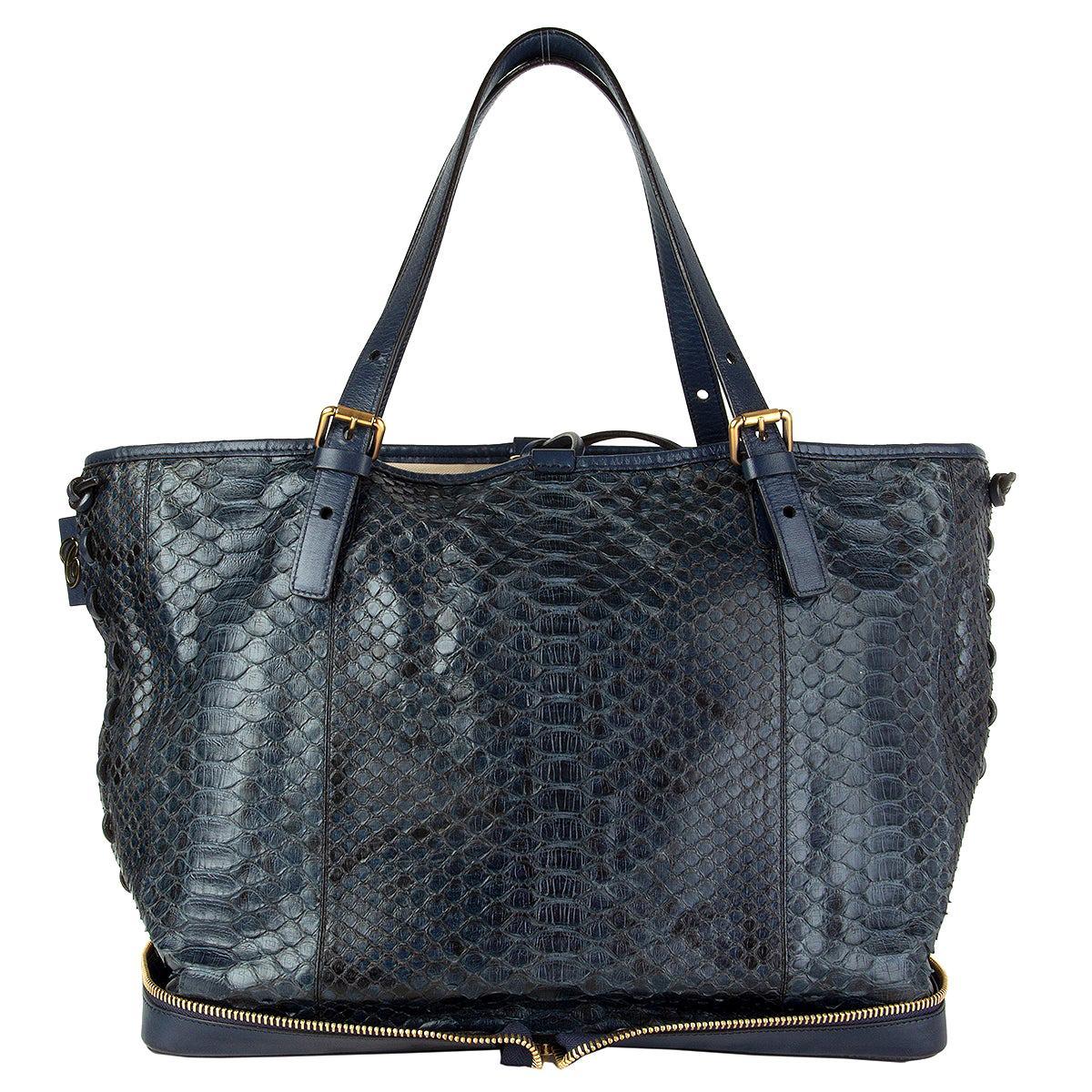 CHLOE Night petrol blue PYTHON ELLEN MOYEN Shoulder Bag