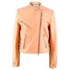 Chloe Nude Leather Biker Jacket FR 36