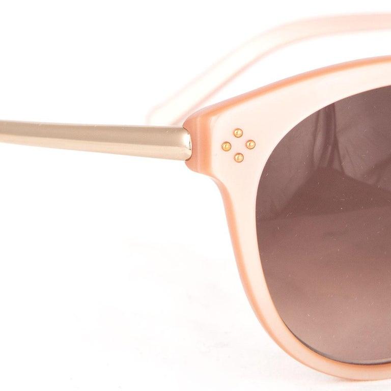 Brown CHLOE nude pink CE641S Cat-Eye Sunglasses gradient brown Lens For Sale