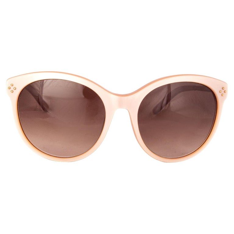 CHLOE nude pink CE641S Cat-Eye Sunglasses gradient brown Lens For Sale