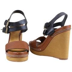 Chloe Open Toe Platform Sandal Size 36.5