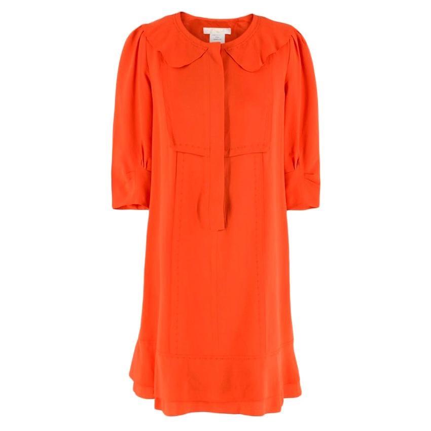 Chloe Orange Silk Dress - Size US 4