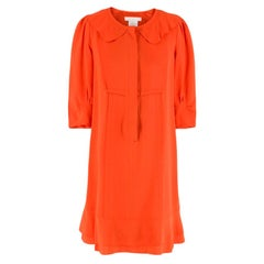 Chloe Orange Silk Dress - Size US 4