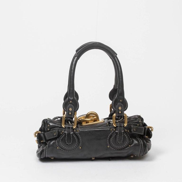 Chloe Black Grained Leather Paddington Pm Bag At 1stdibs