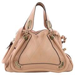 Chloe Paraty Handbag Quilted Leather Medium