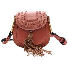 Chloe Pink Leather Hudson Shoulder Bag