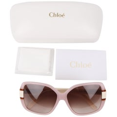 Chloé Pink Lucite Butterfly Frame Sunglasses CE609S