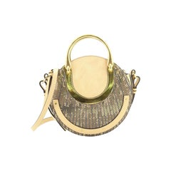 Chloe Pixie Crossbody Bag Embossed Leather and Suede Small