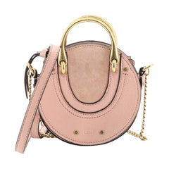 Chloe Pixie Crossbody Bag Leather with Suede Mini