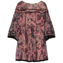 Chloé Printed Silk-Georgette Mini Dress
