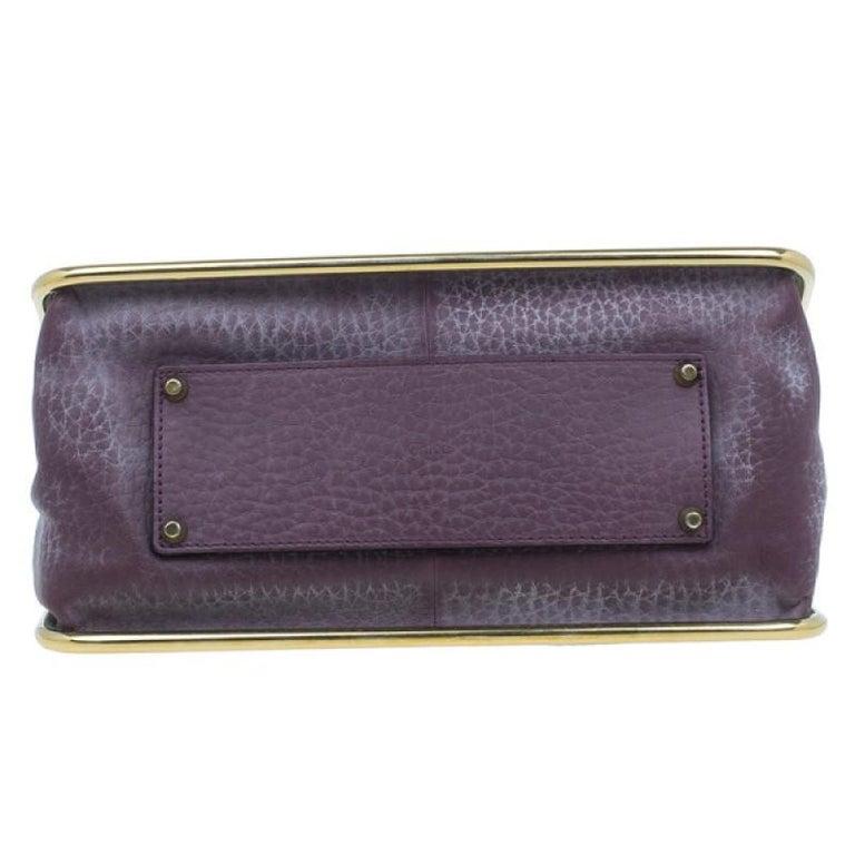 Women's Chloe Purple Leather Medium Sally Crossbody Bag For Sale