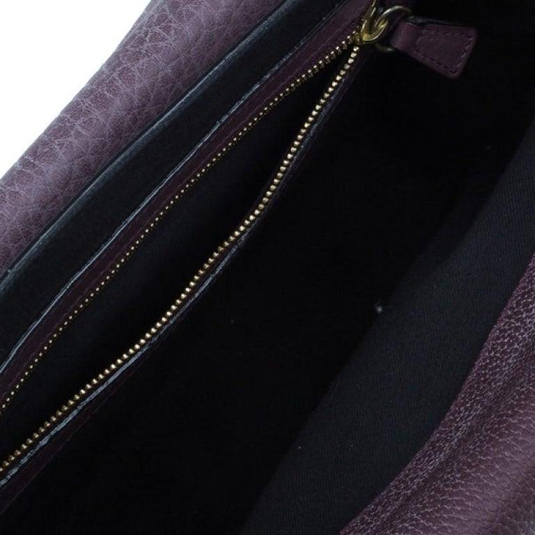 Chloe Purple Leather Medium Sally Crossbody Bag For Sale 2