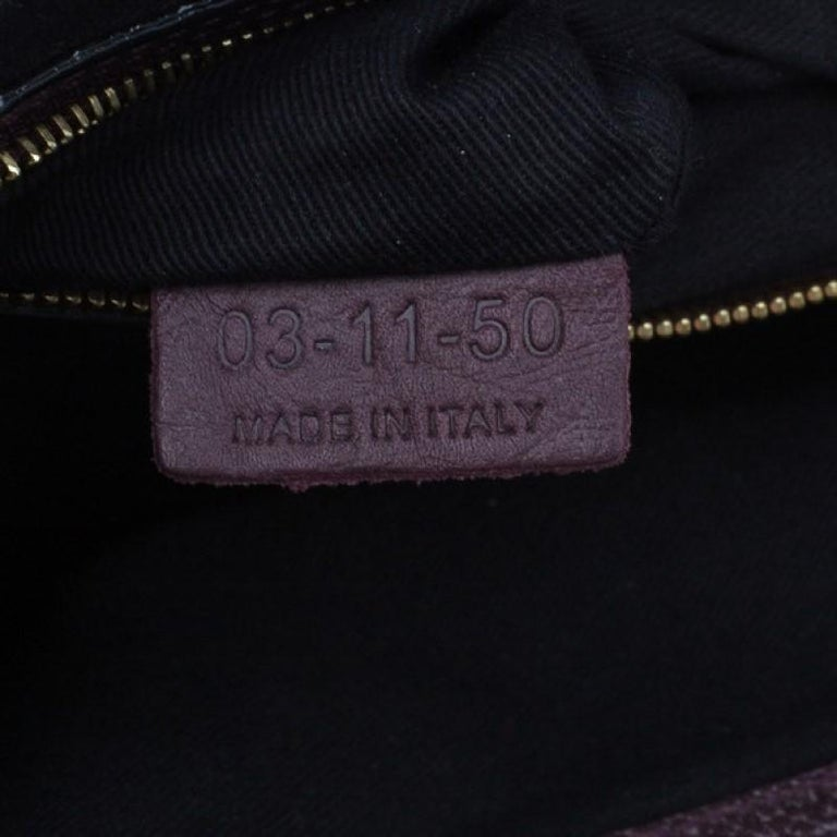 Chloe Purple Leather Medium Sally Crossbody Bag For Sale 4