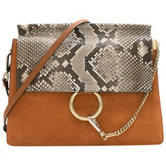 0231f198f2f Chloe Brown/Orange Leather and Suede Faye Shoulder Bag For Sale at ...