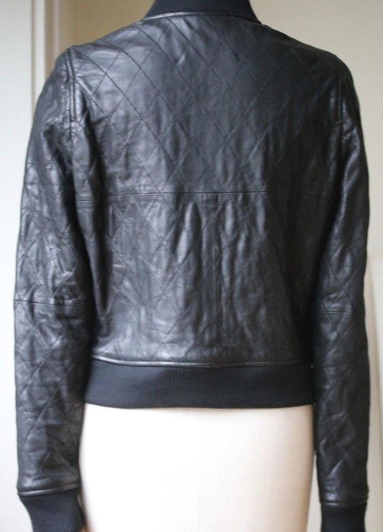 Chloé Quilted Leather Bomber Jacket In Excellent Condition In London, GB