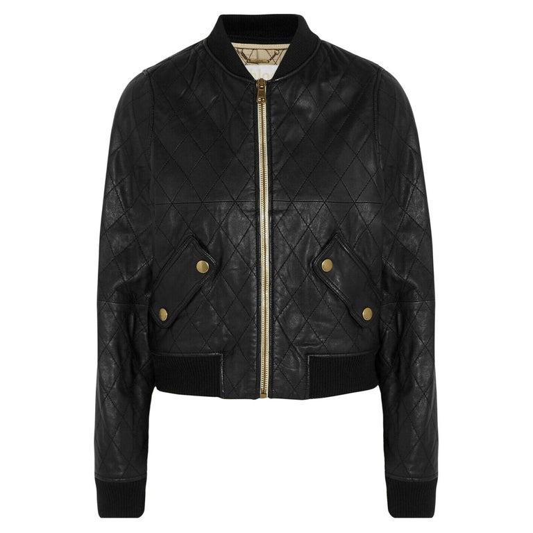 Chloé Quilted Leather Bomber Jacket