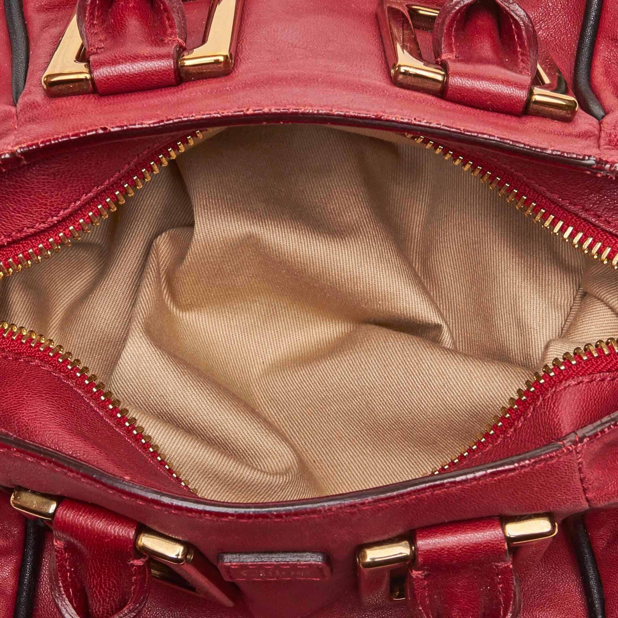 38d99d0af2 Chloe Red Leather Ethel at 1stdibs
