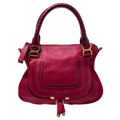 Chloe Red Leather Medium Marcie Shoulder Bag