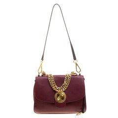 Chloe Red Leather Medium Mily Shoulder Bag