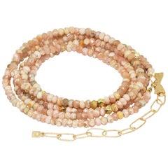 Chloe Rhodochrosite Gold 18 Karat Gemstone Convertible Wrap