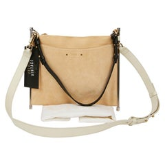 CHLOE Roy bag in Beige Suede and Leather
