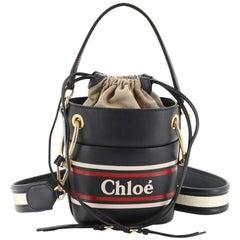 Chloe Roy Logo Bucket Bag Printed Leather Mini