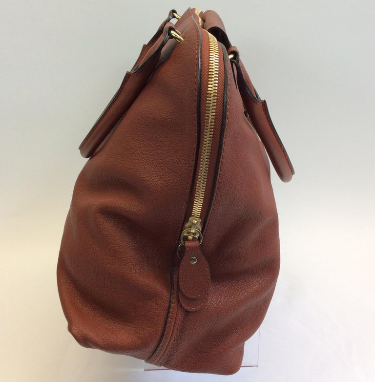 Chloe Rust Leather Large Zip Tote NWT  In New Condition For Sale In Narberth, PA