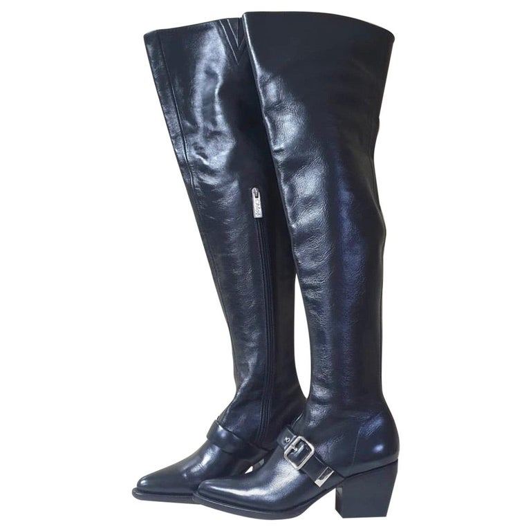 Chloé  Rylee leather over-the-knee boots For Sale