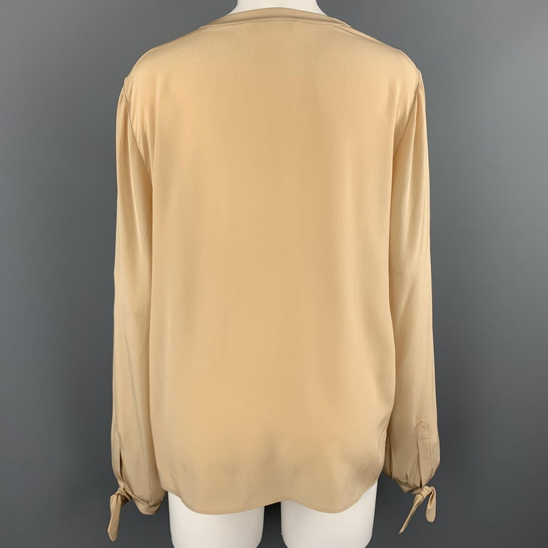 Chloe Champagne and Dove Grey Lace Top at 1stdibs
