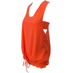 Chloe Spring Summer 2013 Clare Waight Keller Orange Fizz Sleeveless Silk Top