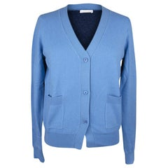 Chloe Sweater Cashmere V Neck Cardigan Blue Color Block S