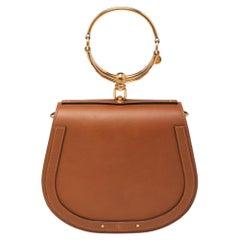 Chloé Tan Leather and Suede Small Nile Bracelet Shoulder Bag